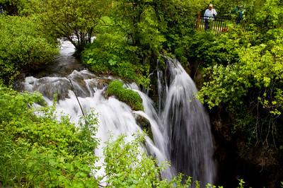 The top of Roughlock Falls.