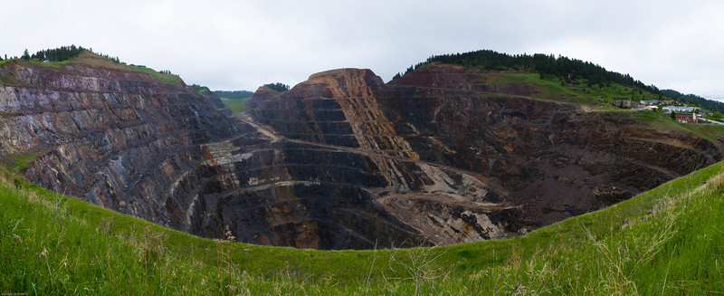 Homestake's Open Cut Mine.  Lead, SD.