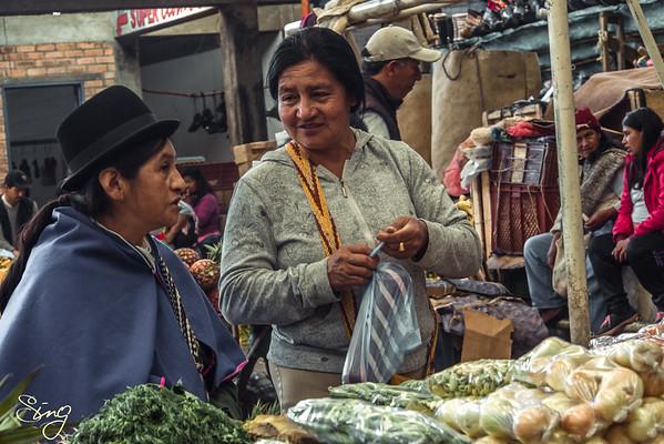 Everyday Life At The Silvia Market. Silvia, Colombia