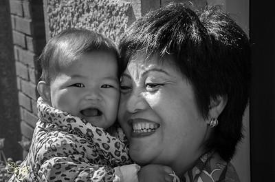Grandmother & Granddaughter. Bloemgracht, Amsterdam