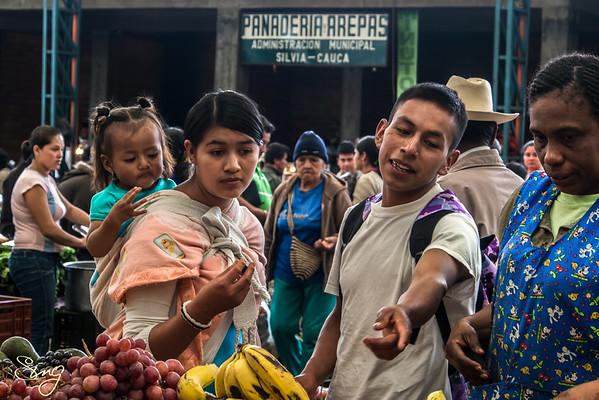 Buying Fruit. Silvia Market, Colombia