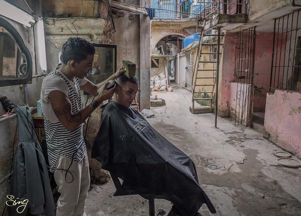 A Little Peek Into The Life Of A Cuban Hairdresser. La Habana, Cuba
