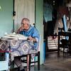 No Hurry Fixing Fans. Baracoa, Cuba