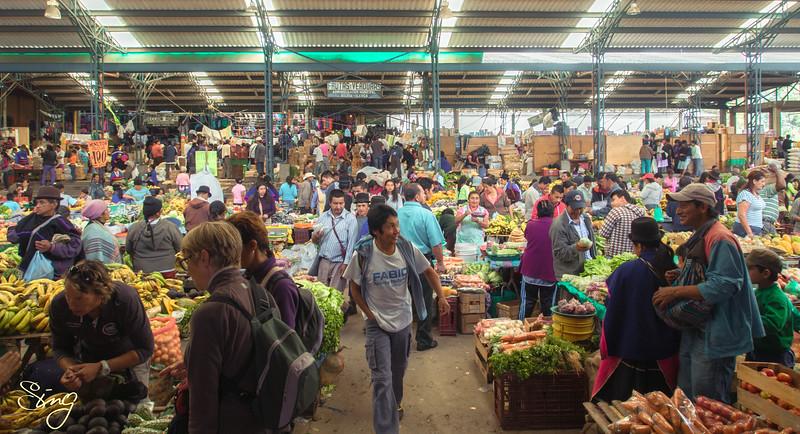 The Colourful Silvia Market. Silvia, Colombia