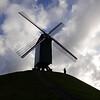 Windmill silhouette - Bruges, Belgium