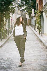 Charlotte,Un Jour d' Octobre 2019, à  Montmartre