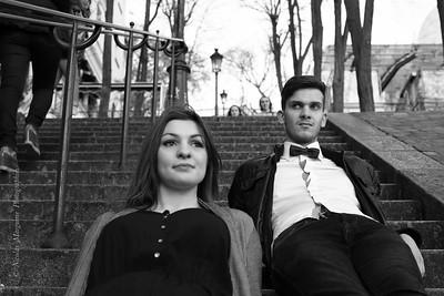 Lisa et Mathieu - Montmartre