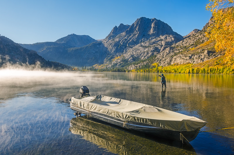 Fall Fishing, Silver Lake Eastern Sierras