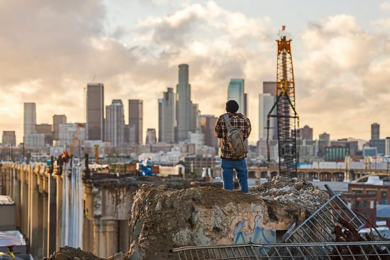 6th street construction, Los Angeles CA