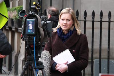 Lorna Gordon live on BBC lunchtime news.....