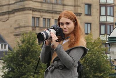 Nice camera.  Nice lady.   Nice chat.