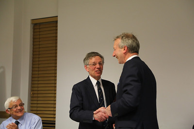 CRSC AGM 2014 as Deryck Docherty (centre) hands over the reins to Angus Ross, as Secretary Eric Schofield looks on, smiling in spite of being re-elected unopposed....