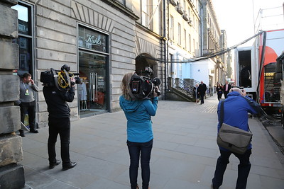 The video boys and girl ready their weapons for Willie Rennie