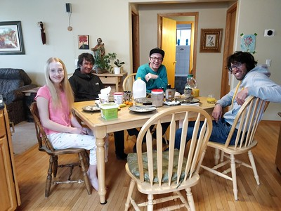 Breakfast with Hansjörg Auer, David Lama, Jess Roskelley and Julia Buhler