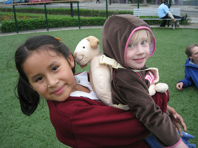 Young friends in Lima, Peru