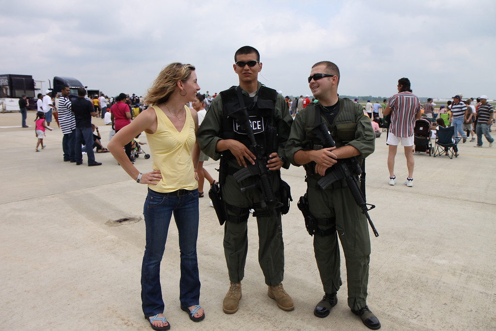 Who doesn't want a photo with good-looking, armed men?