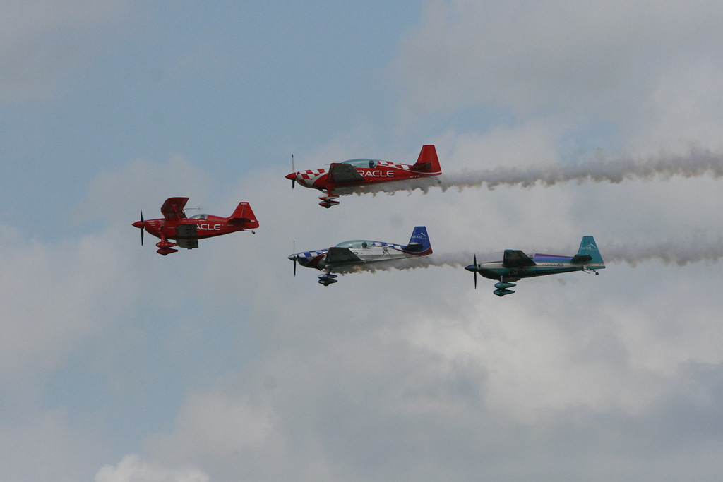NO idea what the other aircraft are. But they were a lot of fun to watch.