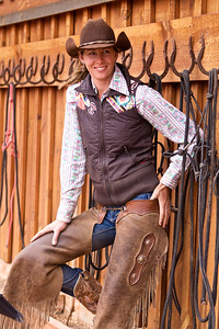Mellisa, head wrangler at Red Cliffs Ranch