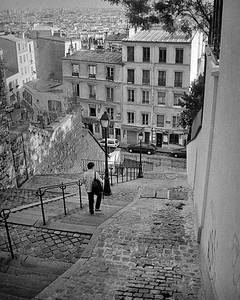 Steps down from Montmartre. 2003