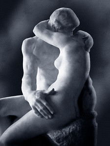 The Kiss - August Rodin. I shot this in 1997 with Agfa B&W film during my first trip to Paris. Later it was scanned and adjusted in Photoshop.