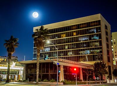 Moon Over SGI Plaza
