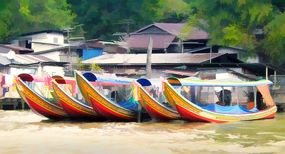 """Longtail"" boats in Bangkok, Thailand"
