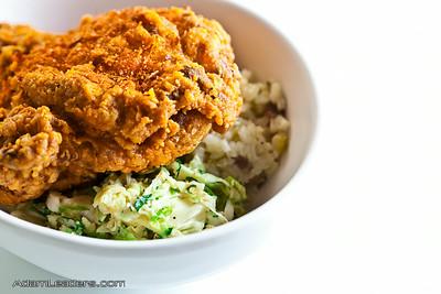 Mild spiced fried chicken