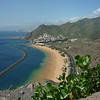 Playa de las Teresitas seen from the cliff-top road to Rincon.
