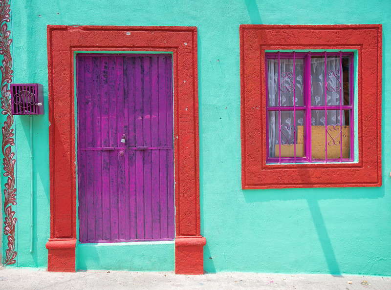Magenta Window and Door