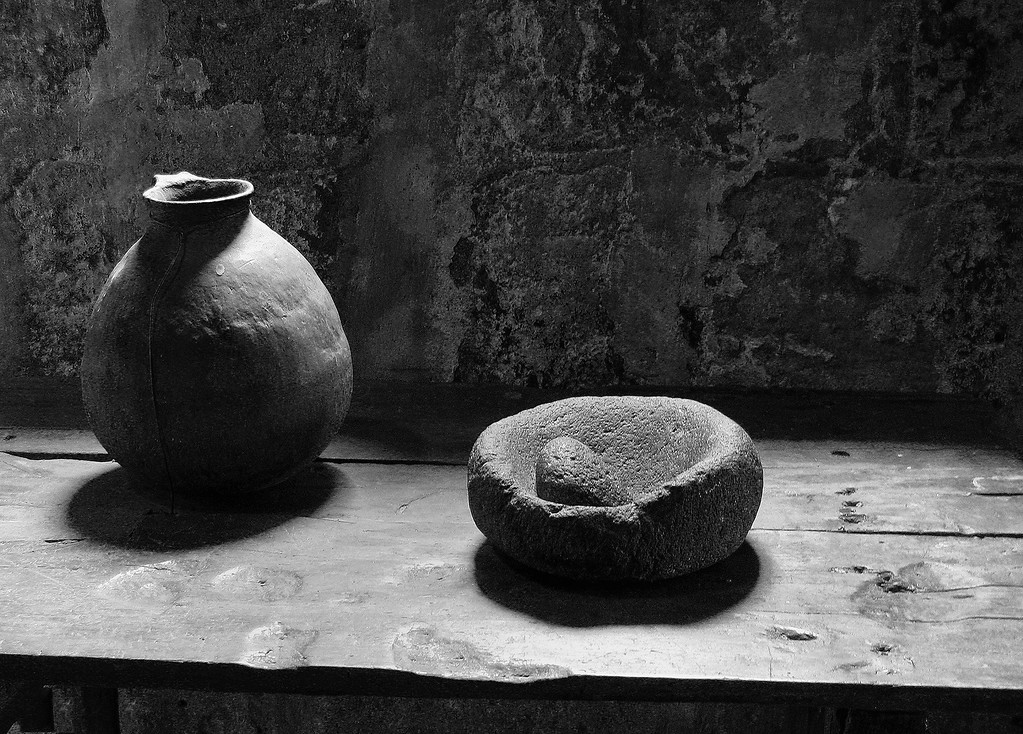 Mortar, Pestle and Vase