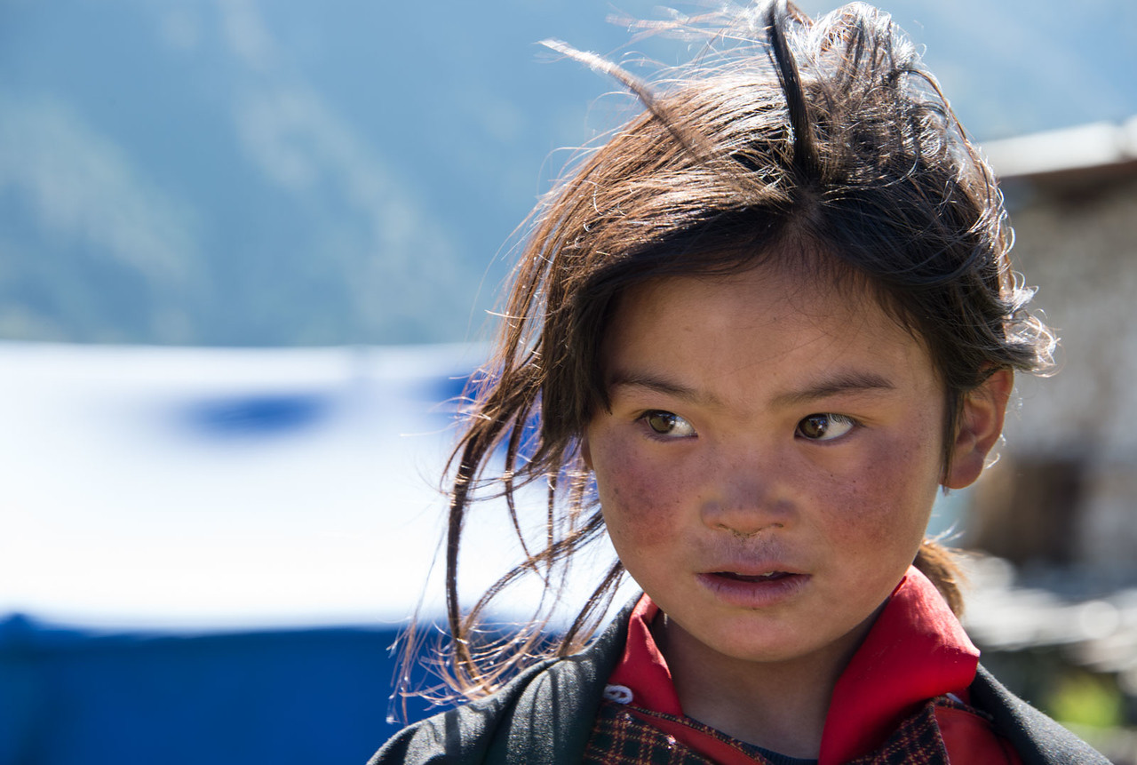 Little girl of Bhutan
