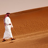 Kuwait Desert - Man Walking in the Desert