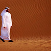 Kuwait - Man walking in desert