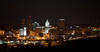 Peoria, IL Skyline at Night #DSC_0011