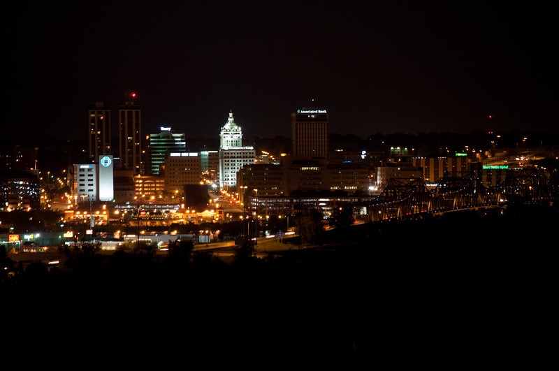 Peoria, IL Skyline at Night #DSC_0013