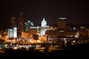 Peoria, IL Skyline at Night #DSC_0019