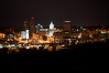 Peoria, IL Skyline at Night #DSC_0008