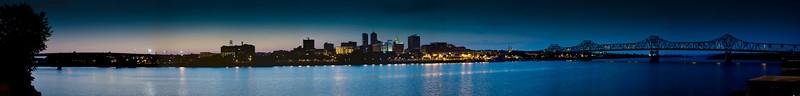 Peoria, IL Panoramic Nightscape