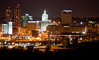 Peoria, IL Skyline at Night #DSC_0018