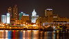 Peoria, IL Skyline at Night #DSC_0021