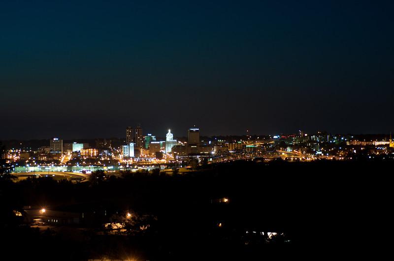 Peoria, IL Skyline at Night #DSC_0005