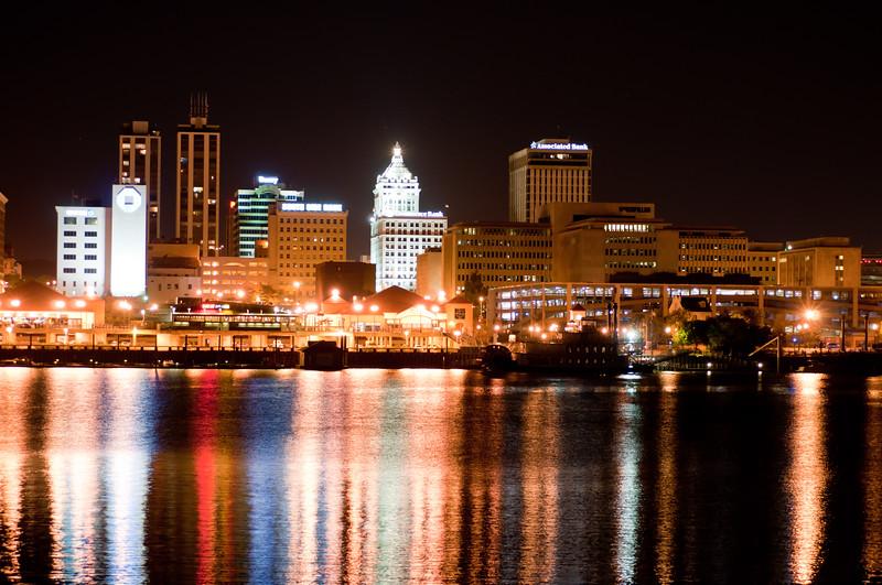 Peoria, IL Skyline at Night #DSC_0025