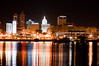 Peoria, IL Skyline at Night #DSC_0025