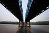 Under the McClugage Bridge Peoria, IL Looking West