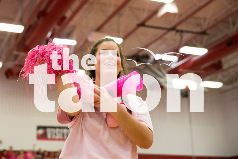 Pink Out Pep Rally (10-9-15) at Argyle High School on 10/9/15 in Argyle, Texas. (Photo by Caleb Miles / The Talon News)