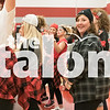 Class of 2018 students celebrate with friends and family in the Senior Pep Rally at Eagle Gymnasium in Argyle, Texas, on November, 3, 2017. (Stacy Short / The Talon News)