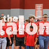 The student body participates in the first pep rally  at Argyle Eagle gym in Argyle, Texas, on August, 31, 2018. (Lauren Kraus / The Talon News)