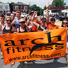 Group from Arch Fitness of Pepperell in the 4th of July Parade. Nashoba Valley Voice Photo by David H. Brow