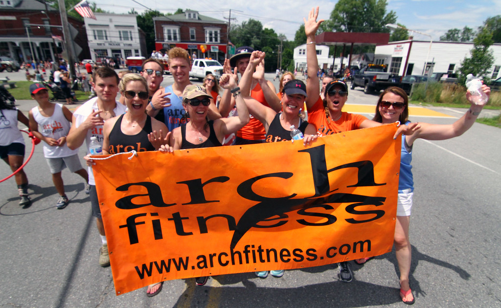 . Group from Arch Fitness of Pepperell in the 4th of July Parade. Nashoba Valley Voice Photo by David H. Brow