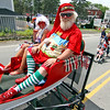 Chritmas in July, it's Santa Bob, or in this case Santa Pepperell shown here in the 4th of July Parade in Pepperell. Nashoba Valley Voice Photo by David H. Brow